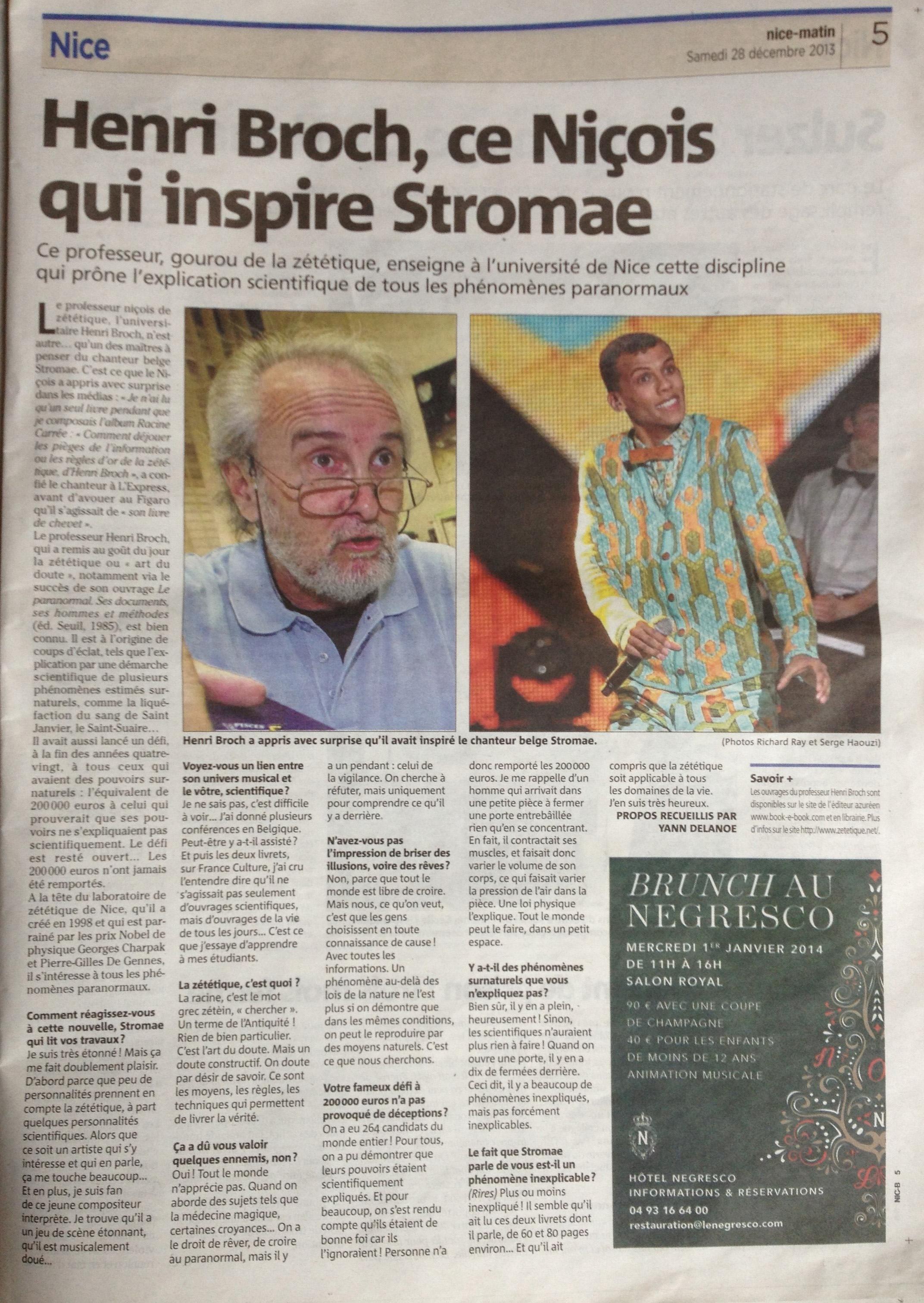 Stromae et la Zététique