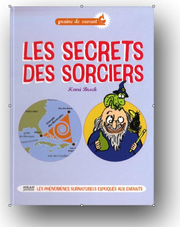 """Couverture """"Les secrets des sorciers"""" du Pr. Henri Broch, éd. Milan 2009"""